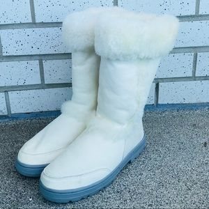 UGG Australia White Tall Boots Size 9